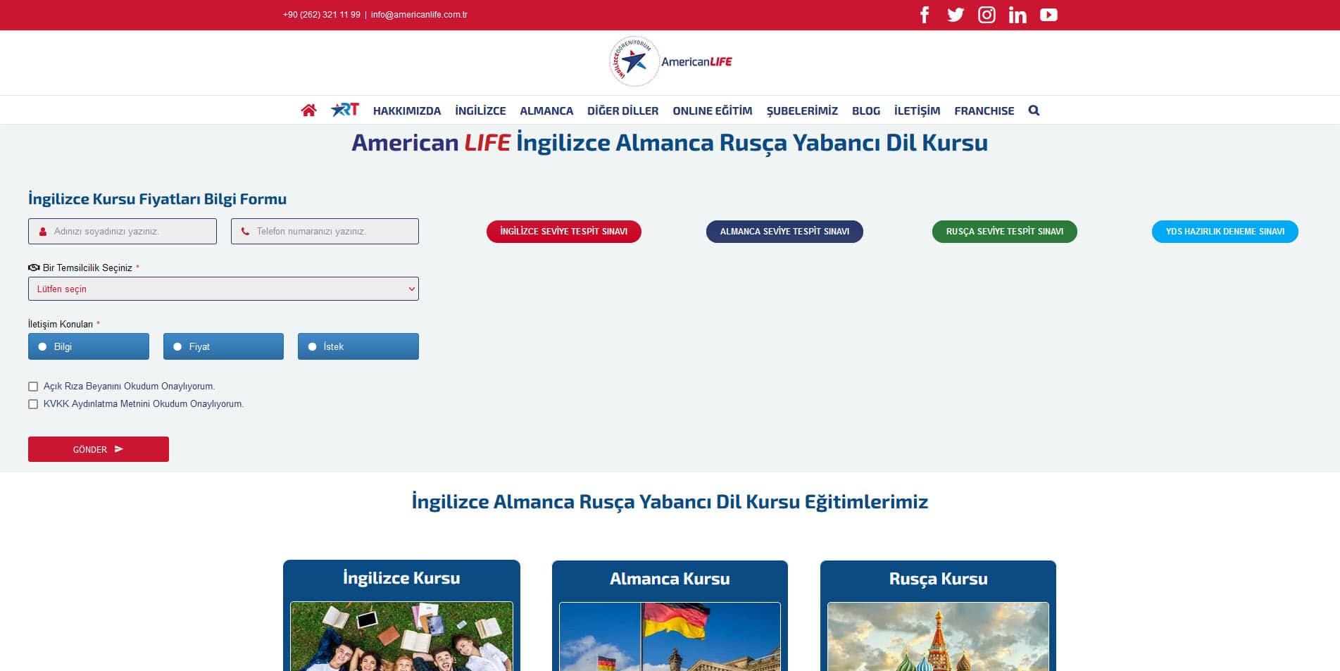 American LIFE Dil Okulları - Anasayfa